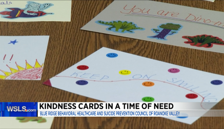 Write a card to spread kindness to a child in the Roanoke Valley