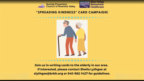 Blue Ridge Behavioral Healthcare wants your help spreading kindness to local elders